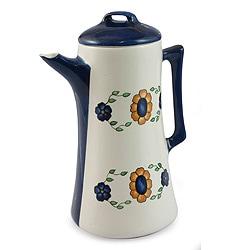 Handcrafted Ceramic 'Margarita' Coffee Pot (Guatemala)