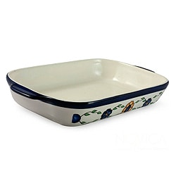 Handcrafted Ceramic 'Margarita' Rectangular Serving Dish (Guatemala)