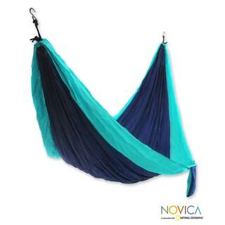 Nylon 'Island Lagoon' Parachute Single Hammock (Indonesia)