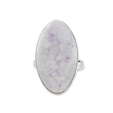 Maya Mystic Round Faceted Lilac Jade Gemstone set in 925 Sterling Silver Elegant Contemporary Womens