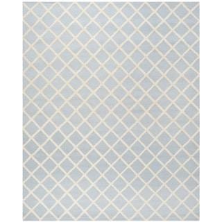 Safavieh Handmade Cambridge Moroccan Light Blue Contemporary Wool Rug (6' x 9')