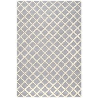 Modern Safavieh Handmade Cambridge Moroccan Silver Wool Rug (4' x 6')