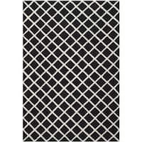 Safavieh Handmade Cambridge Moroccan Diamond-Patterned Black Wool Rug - 4' x 6'
