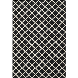 Safavieh Handmade Cambridge Moroccan Black Wool Rug with High/Low Construction (6' x 9')