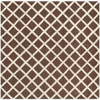 Safavieh Handmade Contemporary Cambridge Moroccan Dark Brown Wool Rug - 6' Square