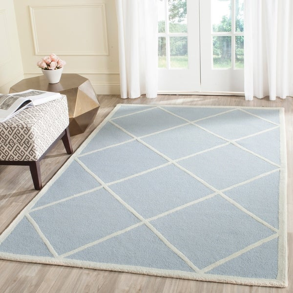 Safavieh Moroccan Blue And Black Area Rug: Shop Safavieh Handmade Cambridge Moroccan Light Blue Wool