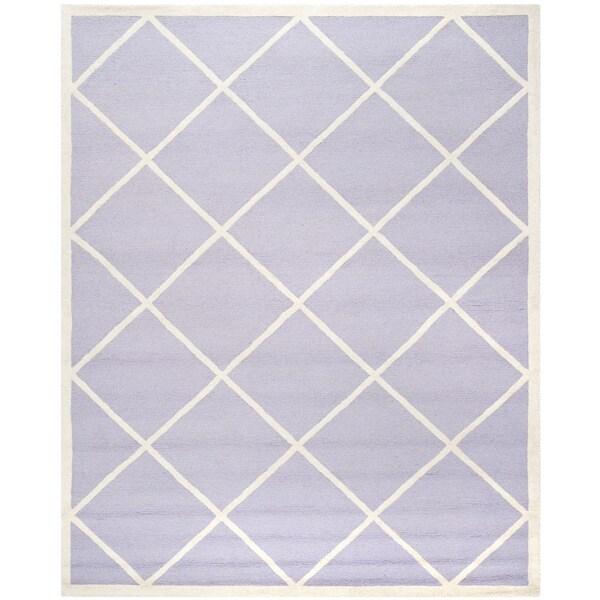 Safavieh Handmade Cambridge Moroccan Lavender Diamond-Patterned Wool Rug (8' x 10')