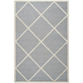 Safavieh Handmade Cambridge Moroccan Silver Rectangular Wool Rug (4' x 6')