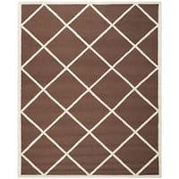 Safavieh Handmade Cambridge Moroccan Dark Brown Tufted Wool Rug - 8' x 10'