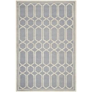 Safavieh Handmade Cambridge Moroccan Silver Indoor Wool Rug (4' x 6')