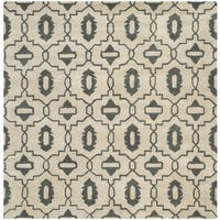 Safavieh Handmade Moroccan Chatham Beige Wool Rug - 7' Square