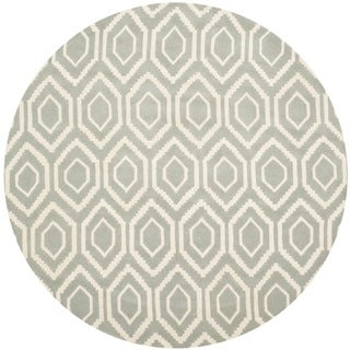 Safavieh Handmade Moroccan Grey Abstract Wool Rug (7' Round)
