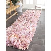 "Safavieh Handmade Decorative Rio Shag Pink Runner - 2'3"" x 11'"