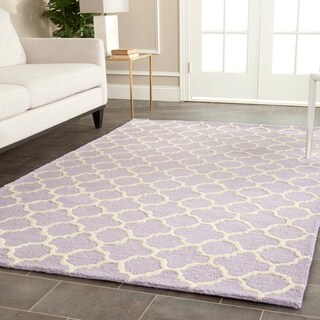 Safavieh Handmade Moroccan Cambridge Lavender Wool Area Rug (6' x 9')