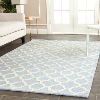 Safavieh Handmade Cambridge Moroccan Lavender Abstract Wool Rug (8' x 10')