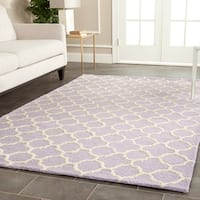 Safavieh Handmade Cambridge Moroccan Traditional Lavender Wool Rug - 9' x 12'