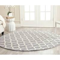 Safavieh Handmade Cambridge Moroccan Silver Wool Area Rug - 6' x 6' Round