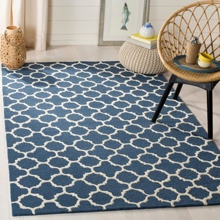 Safavieh Handmade Cambridge Moroccan Navy Small-Pattern Wool Rug (4' x 6')