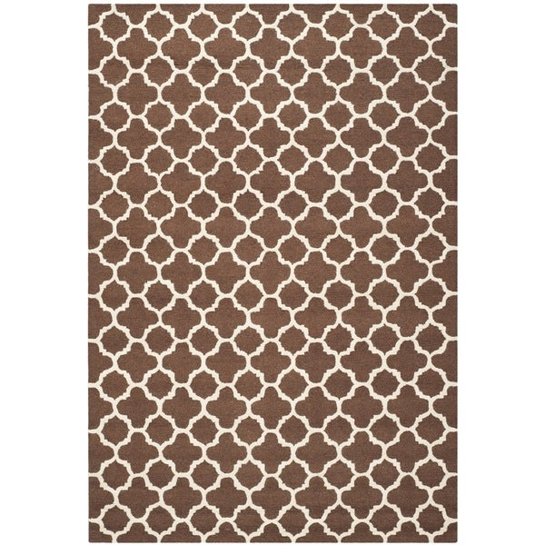 Safavieh Handmade Cambridge Moroccan Dark Brown Rectangular Wool Rug - 8' x 10'