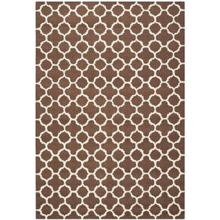 Safavieh Handmade Cambridge Moroccan Dark Brown Pure Wool Rug (9' x 12')
