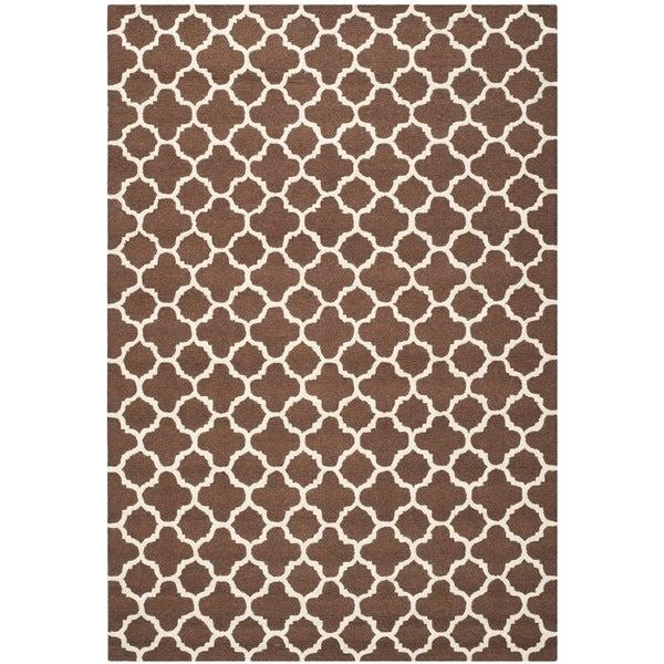 Safavieh Handmade Cambridge Moroccan Dark Brown Pure Wool Rug - 9' x 12'