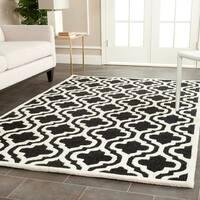 Safavieh Handmade Cambridge Moroccan Contemporary Black Wool Rug - 4' x 6'