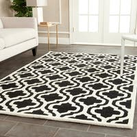 Safavieh Handmade Cambridge Moroccan Plush Black Wool Rug (5' x 8') - 5' x 8'