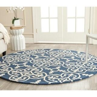 Safavieh Handmade Cambridge Moroccan Navy Wool Indoor Rug (6' Round)