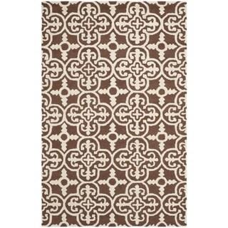Safavieh Handmade Cambridge Moroccan Dark Brown Pure Wool Rug (4' x 6')