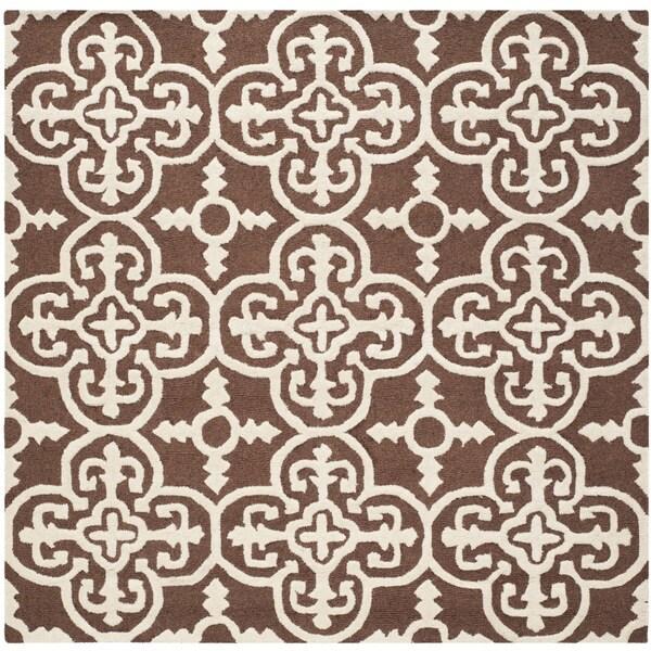Safavieh Handmade Indoor Cambridge Moroccan Dark Brown Wool Rug - 6'