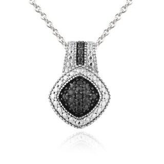 DB Designs Rhodium-plated 1/10ct TDW Black Diamond Necklace