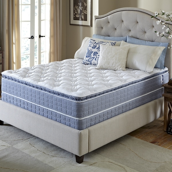 shop serta revival pillow top cal king size mattress and foundation set free shipping today. Black Bedroom Furniture Sets. Home Design Ideas