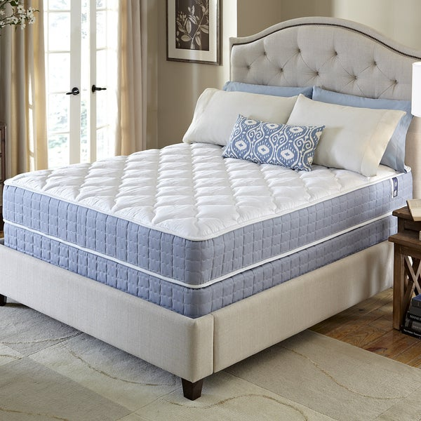 shop serta revival firm queen size mattress and foundation set free shipping today overstock. Black Bedroom Furniture Sets. Home Design Ideas