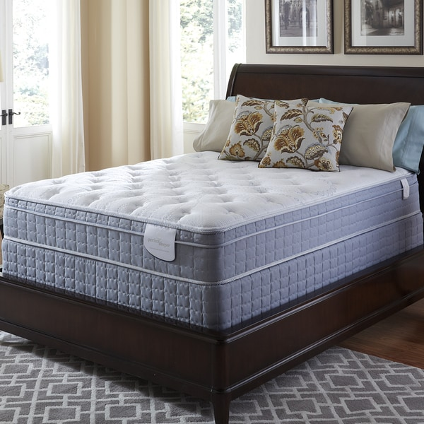 Serta Perfect Sleeper Luminous Euro Top Twin XL-size Mattress and Foundation Set