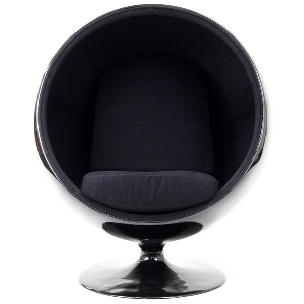 Lexington Modern Black Eero Aarnio Style Ball Chair