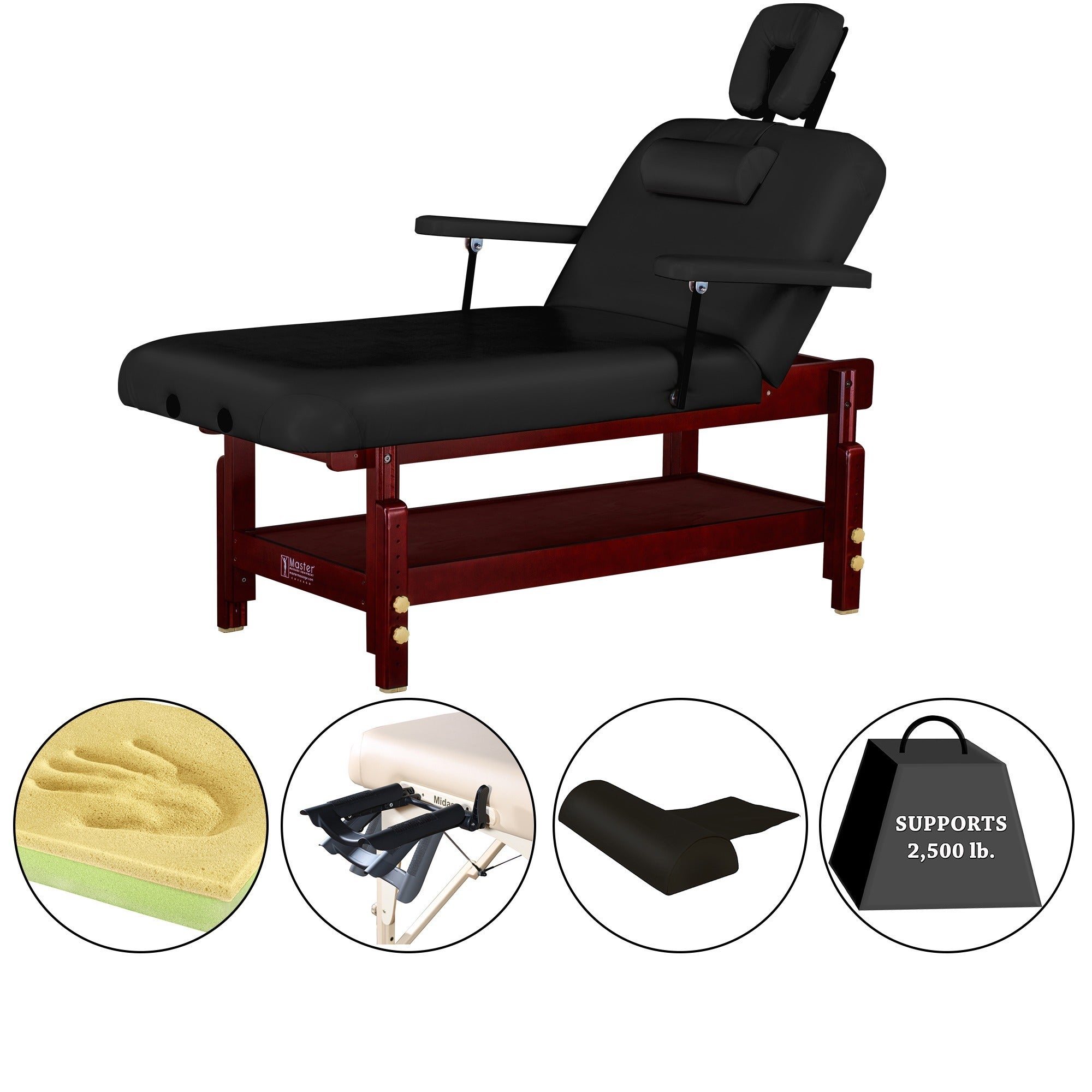 Master Massage 31-inch Montclair Stationary Massage Table...