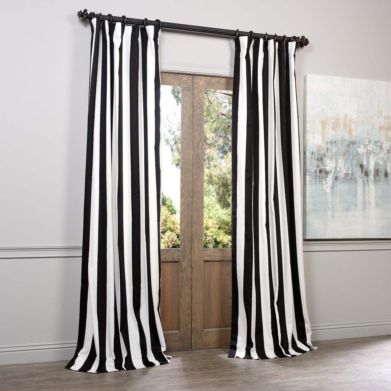 Exclusive Fabrics Cabana Black Stripe