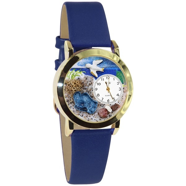 Whimsical Footprints Royal Blue Leather Watch