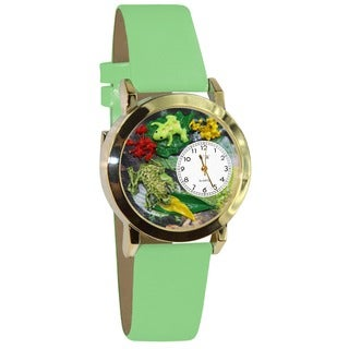 Frogs Green Leather Watch