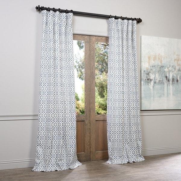 Exclusive Fabrics Nairobi Denim Printed Cotton Curtain Panel