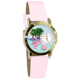 Flamingo Pink Leather Watch