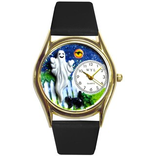 Halloween Ghost Black Leather Watch