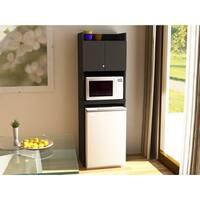 Ameriwood Home Contemporary Black Stipple Refrigerator Storage Cabinet