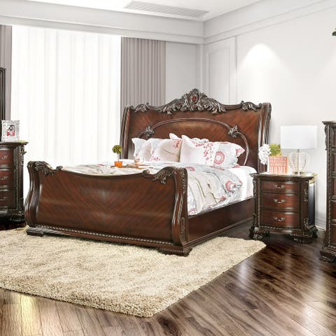 Furniture of America Kow Cherry Cal King 2-piece Bedroom Set