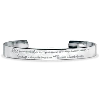 Men's Stainless Steel Inspirational 'Serenity Prayer' Cuff Bracelet|https://ak1.ostkcdn.com/images/products/7954422/P15326997.jpg?impolicy=medium