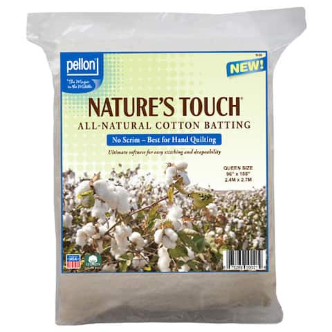 Pellon Queen-size Natures Touch 96 x 108-inch Non-scrim Natural Cotton Batting