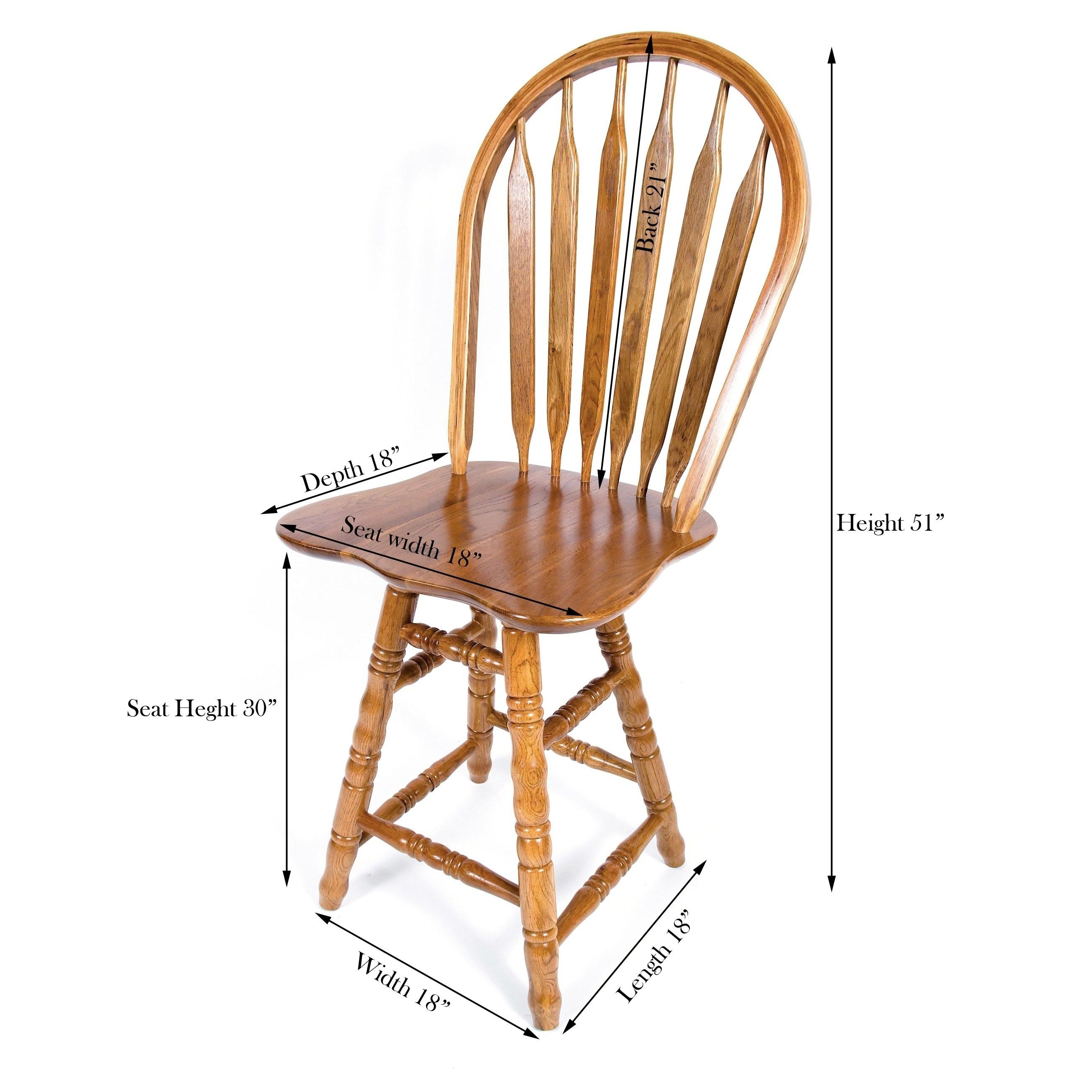 Swell Solid Medium Oak Arrow Back Swivel Turned Counter 24 Inch Bar Stool Frankydiablos Diy Chair Ideas Frankydiabloscom