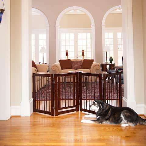 Primetime Petz 30-inch 360-degree Configurable Wooden Pet Gate