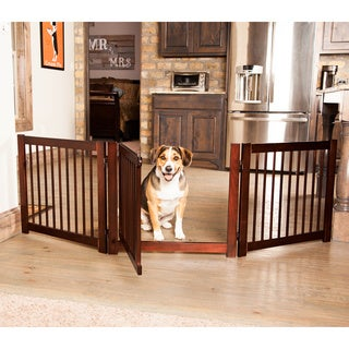 Primetime Petz Walnut-finish Wood Configurable Pet Gate