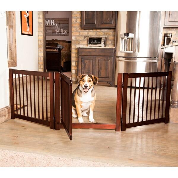 wooden pet gate tall primetime petz 24inch 360 configurable wooden pet gate shop free